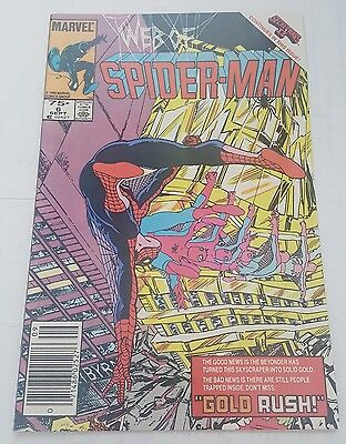 web of spiderman # 6 , 1985 canadian newsstand price edition
