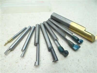 "9Pc Assorted Solid Carbide Boring Bars 1/8"" To 1/2"" Shanks Thin Bit Micro100"