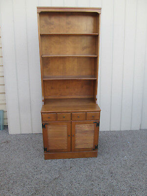 00001 ETHAN ALLEN Cabinet with Bookcase Top