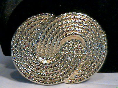 Nan Lewis Chunky Belt Buckle--Signed--Gold Tone With Woven Design