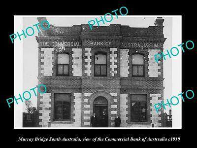 OLD HISTORIC PHOTO OF MURRAY BRIDGE SA, THE COMMERCIAL BANK OF AUSTRALIA c1910