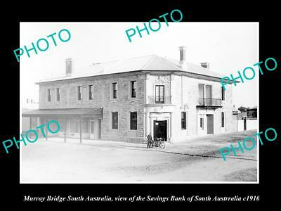 OLD HISTORIC PHOTO OF MURRAY BRIDGE SOUTH AUSTRALIA, THE SAVINGS BANK c1910