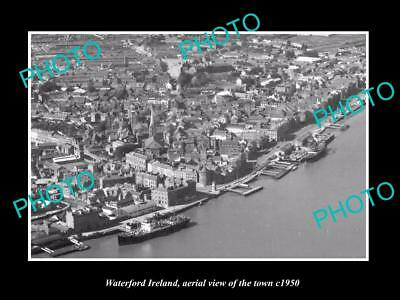 OLD LARGE HISTORIC PHOTO OF WATERFORD IRELAND, AERIAL VIEW OF THE CITY c1950 2