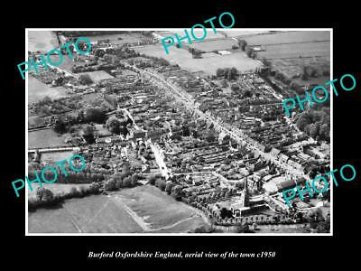 Old Large Historic Photo Of Burford Oxfordshire England, View Of The Town 1950 1