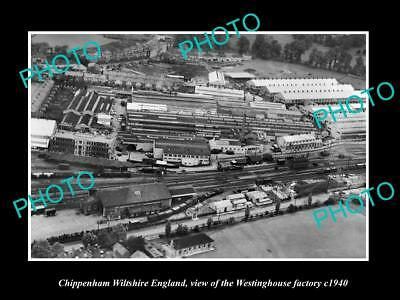 OLD HISTORIC PHOTO OF CHIPPENHAM WILTSHIRE ENGLAND, WESTINGHOUSE FACTORY c1940