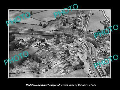 OLD LARGE HISTORIC PHOTO OF RADSTOCK SOMERSET ENGLAND, VIEW OF THE TOWN c1930 2