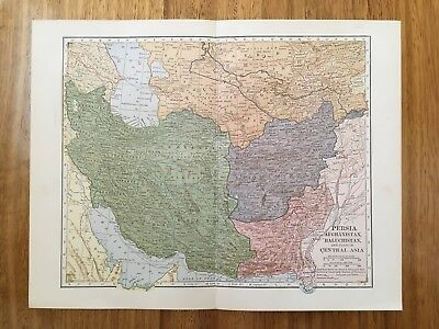 Antique Map - Persia, Afghanistan, Baluchistan, Central Asia
