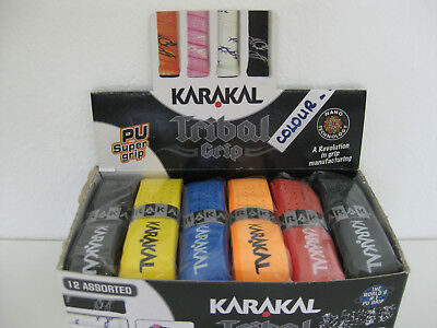 2 x Karakal PU Super Tribal Racket Replacement Grip Badminton Tennis Squash