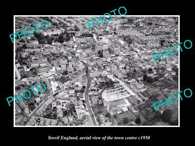 OLD LARGE HISTORIC PHOTO OF YEOVIL ENGLAND, VIEW THE TOWN CENTRE c1950 2