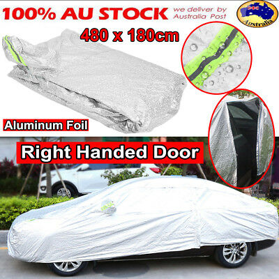 Aluminum Coated Waterproof Double Thicker Car Cover Rain Resistant UV Dust-Proof