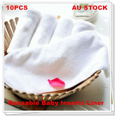 10 Bulk Modern Nappy Inserts Liners Reusable Washable Cloth Nappies Diapers Baby