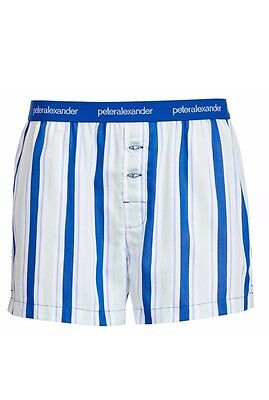 Peter Alexander Men's Boxer Shorts S Small New Without Tags 100% Cotton