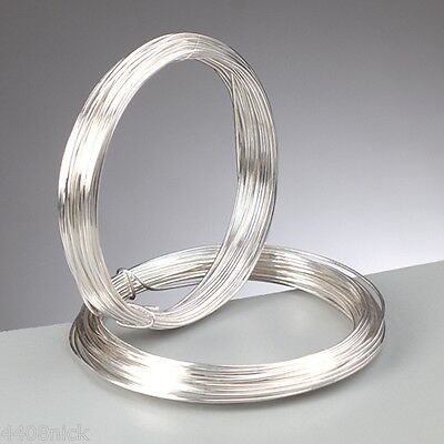 1.2 mm (16 gauge) Silver Plated Craft/Jewellery/Florist Wire Non Tarnish 3m