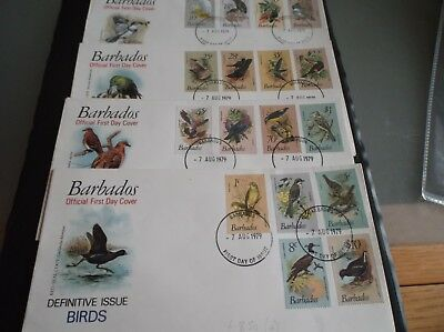 Barbados 1979 Birds First Day Covers