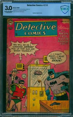 Detective Comics # 210  Obey the Brain !  CBCS 3.0 scarce Golden Age book !