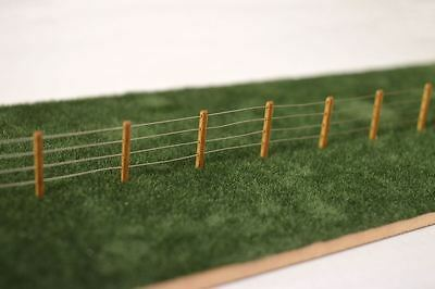 LASER CUT 4ft FENCE POSTS OO GAUGE MODEL RAILWAY 1:76 OO SCALE LX058-OO