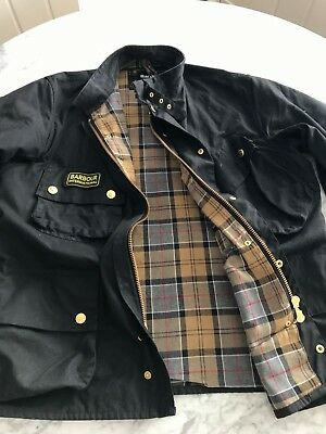 Men's Barbour International Original Waxed Jacket Size 46; purchased in UK