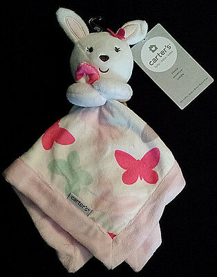 NEW/NWT-Carter's Security Blanket-Blankie-Lovey/Bunny&Butterflies/Pink-Baby Girl