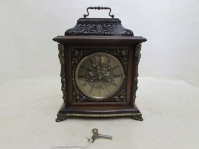 Vintage Urgos 8 Day Walnut & Brass Westminster Chime Bracket Clock