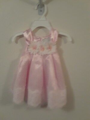 Rare Editions pink and lace sun dress, 12 mths, brand new