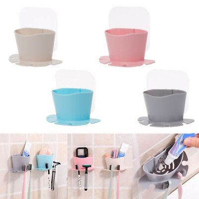 CO_ Durable Suction Cup Soap Toothbrush Box Dish Holder Bath Shower Accessory Ey