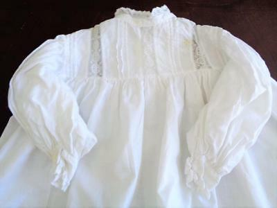 Antique Victorian Baby Infant Dress Gown for Large German Bisque Compo Doll