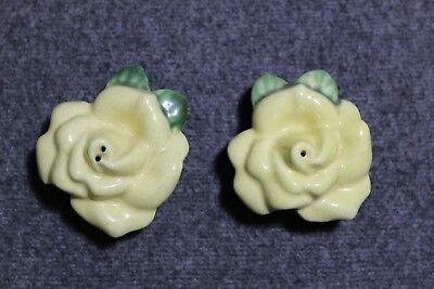Vintage Yellow Rose Salt and Pepper Shakers