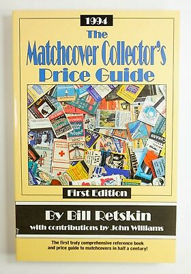 MINT 1994 Matchcover Collectors Price Guide 1st Ed. Paperback - By Bill Retskin