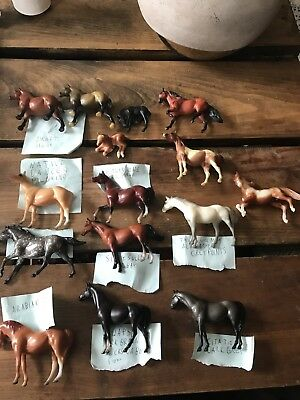 Lot of 15 Breyer Stablemate Size Horses -
