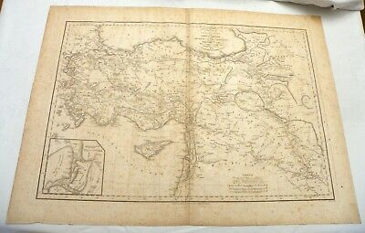 1816 Map: Route in Detail of Cyrus the Younger from Sardis to Babylonia..J Renne