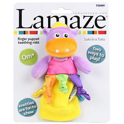 Tomy Lamaze Lulu in a Tutu Finger Puppet Teething Mitt Baby Teether Toy 0 Month+