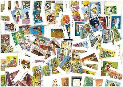 Disney 200 X Different Mixed Mint Stamps & Mini Sheets