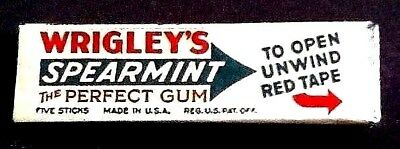 Vintage Wrigleys Spearmint Gum Pack. 1932. Nra. New Old Stock. Mint Condition.
