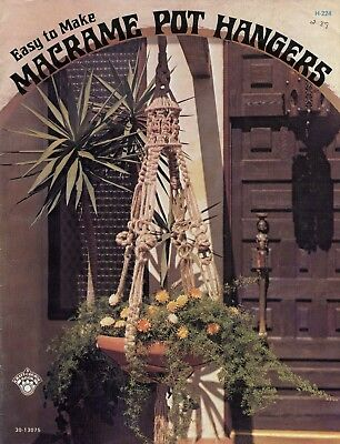 Easy to Make - Macrame Pot Hangers - 1974