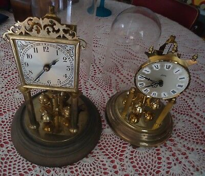 Vintage German Movement Mantle Dome Clocks