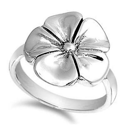 LARGE DAISY ~ Ladies Genuine 925 STERLING SILVER RING ~ Size 8 9 10 / Q S U