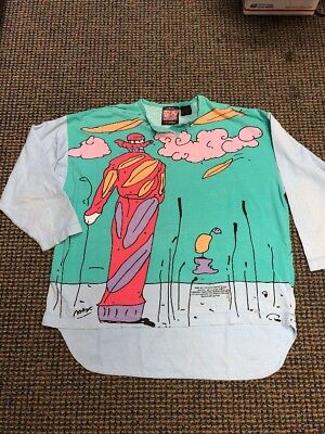 VINTAGE 1987 PETER MAX NEOMAX SIGNATURE SERIES T-SHIRT! Size Large