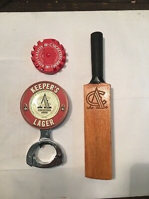 Cricketers Arms Keepers Lager Decal With Bat Handle - Only One On eBay