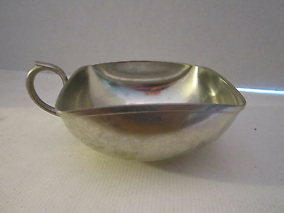 KMD Tiel Royal Holland Pewter Square Crumb Catcher Bowl with Handle. vintage.