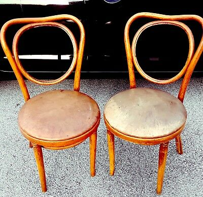 pair of rare bentwood vintage thonet chair bistro ice cream parlor