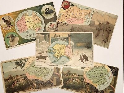 Arbuckle Coffee Trade Cards 5 Cards Included Original Not Reproduction