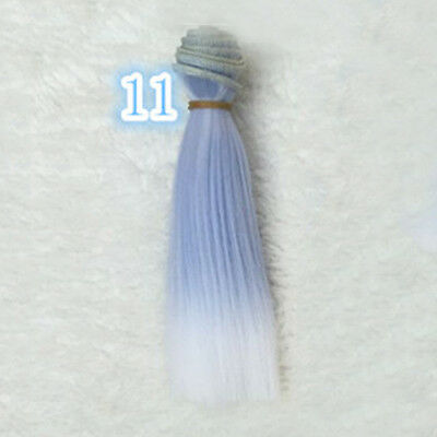 DIY BJD SD Straight Doll Wigs Synthetic Hair For Dolls 15cm Girls Hot.US