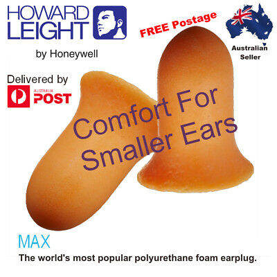 1, 10 or 20 Pairs Howard Leight Max SMALL Disposable Earplugs NRR30