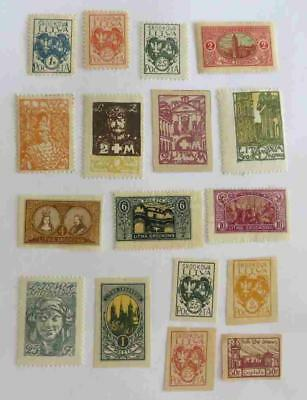 Central Lithuania 1920 - 21 small collection unused