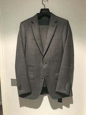 Godwin Charli Madrid Pure Wool Suit Mid-Grey Size 38/32