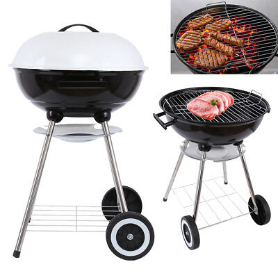bbq holzkohlegrill barbecue smoker grill grillwagen eur 65 99 picclick de. Black Bedroom Furniture Sets. Home Design Ideas