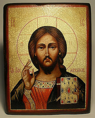 Handmade copy ancient ORTHODOX ICON of Jesus Christ the Savior 76S