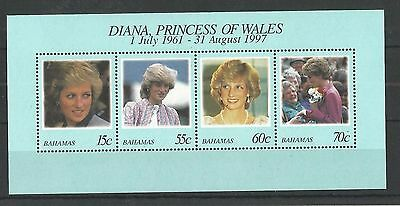 Bahamas 1998 Diana, Princess of Wales MS MNH