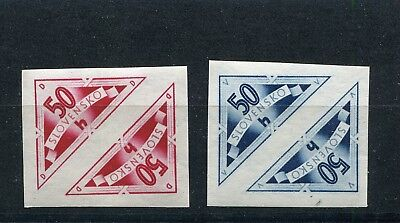 Slovakia Ww2 German Puppet State 1940 Scott Ex1-Ex2 Perfect Mnh Tete-Beche Pairs