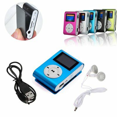 Mini USB Clip MP3 Player LCD Screen Support 16/32GB Micro SD TF Card Radio O5